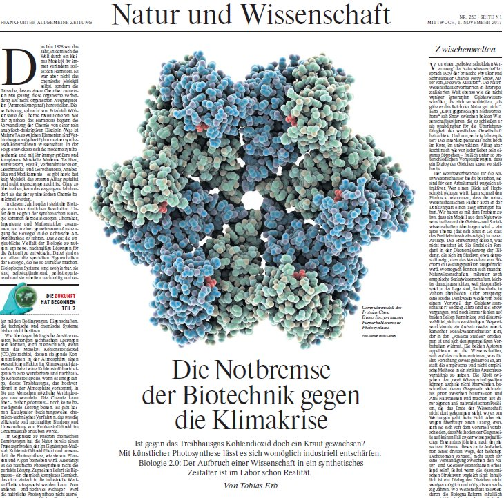 FAZ Feature Article by Tobias Erb